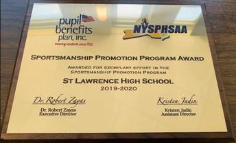 Sportsmanship Promotion Program Award