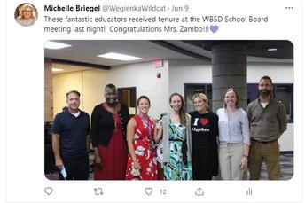 Congratulations Mrs. Zambo!