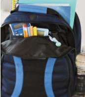 6. Keep backpacks packed