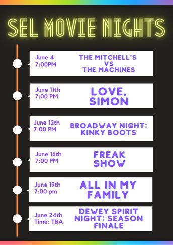 SEL Movie, Theatre & Concert Nights!