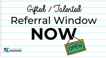 Gifted & Talented Referral Window: