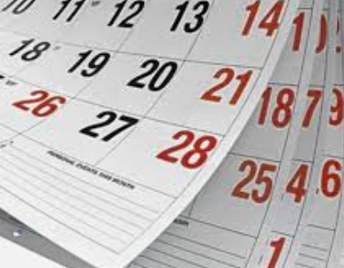 Two Week Calendar of Events