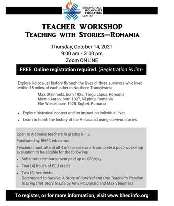 Birmingham Holocaust Education Center: Teacher Workshop