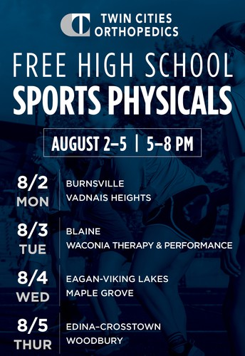 Mark your calendars for TCO's free sport physical event registration date