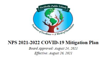 Northville Public Schools 2021-2022 COVID-19 Mitigation Plan