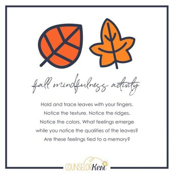 Mindfulness Minute with Leaves