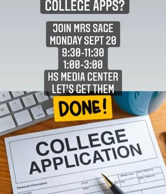 Senior College Application Workshop