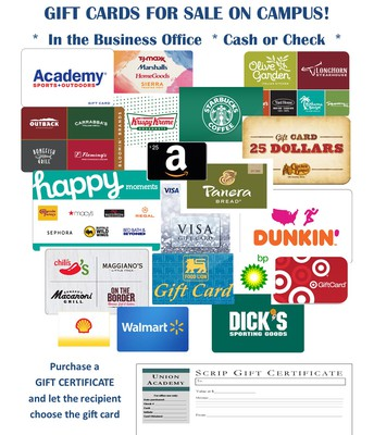 Buy Gift Cards and Support UA
