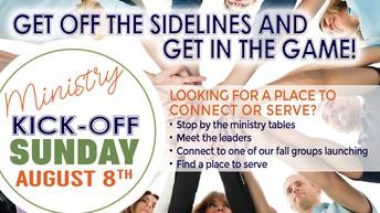 MINISTRY KICK-OFF SUNDAY