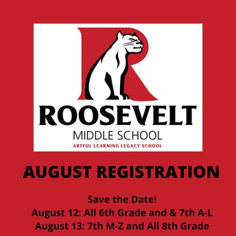Roosevelt Registration 2021-2022