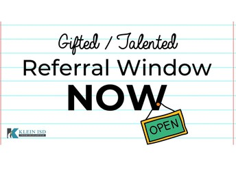 Gifted & Talented Referral Window