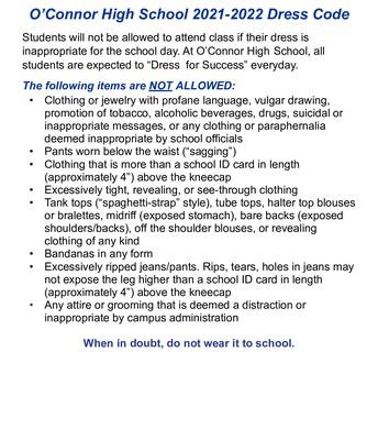 OHS Dress Code