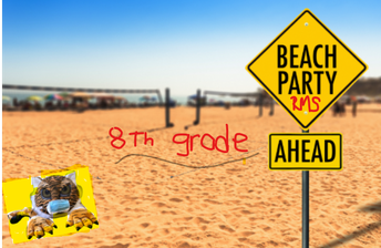 8th Grade Beach Party at Roosevelt!