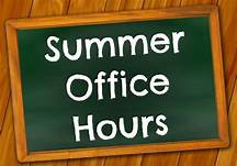 Main Office Summer Hours