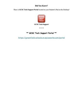 Tech Support Portal