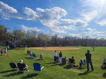 THE FIRST SOFTBALL GAME OF THE SPRING SEASON