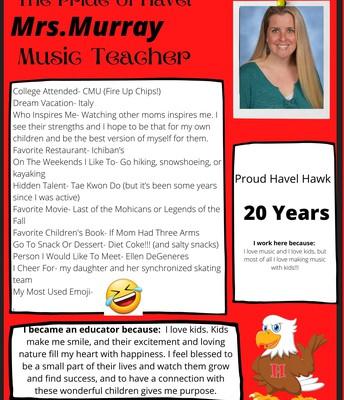 Mrs. Murray- Music Teacher