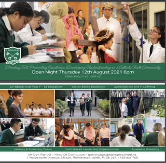St Peters Open Night - August 12, 6pm