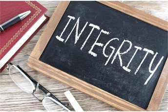 Integrity - acting according to a sense of right and wrong