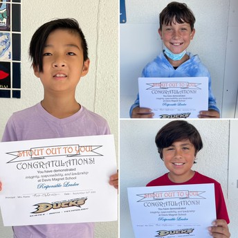 4th Grade Shout Out Award Winners