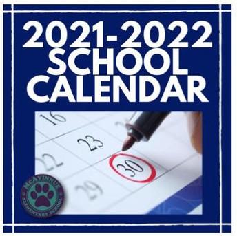 UPDATED: LPSD School Calendar 2021-2022 School Year