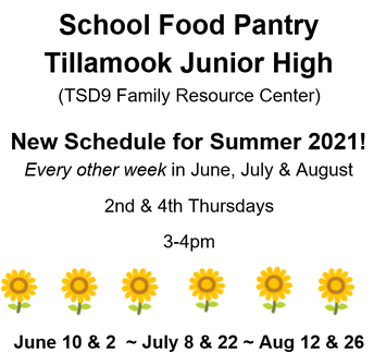 Food Pantry Limited Summer Hours