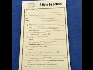 School Communication Notepads