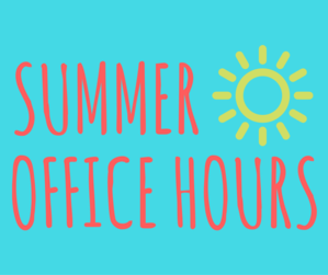 ICCS SUMMER OFFICE HOURS