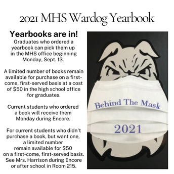 2021 Yearbooks Are In