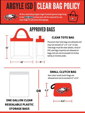 Argyle ISD - Clear Bag Policy