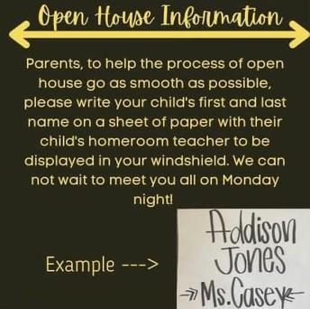 Open House Info