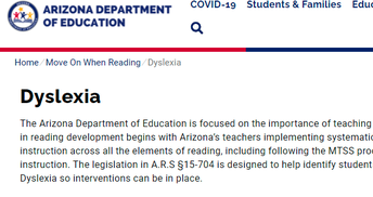 Dyslexia (K-12)