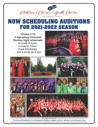 Chorus Auditions Now Open! - NEW