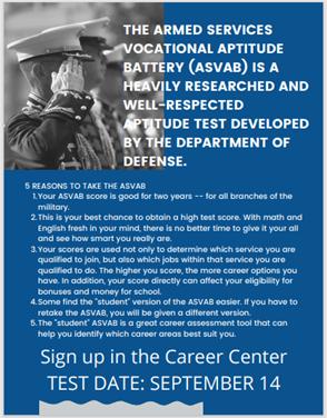 ASVAB Testing Flyer