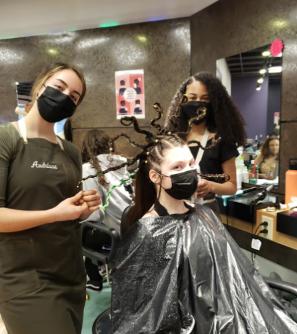 CRTC Cosmetology Students Showcase Historical Hairdos