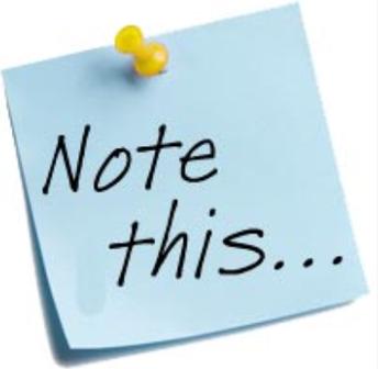 Items to Note