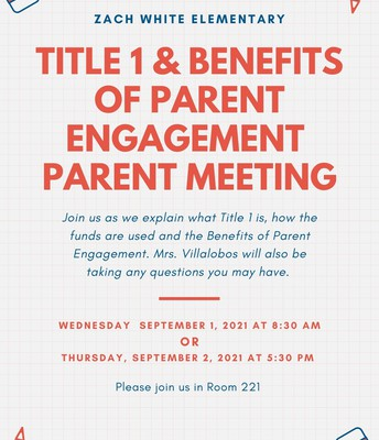 Title 1 Annual Meetings