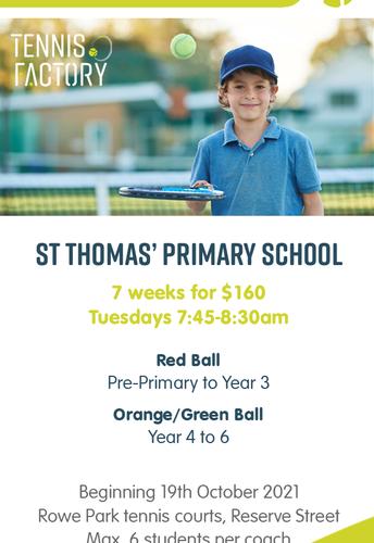 Tennis at St Thomas'