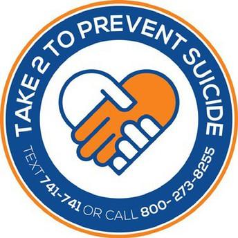 """""""Take 2"""" (hablar, acciones, conocimiento, equipo) para la prevención del suicidio"""