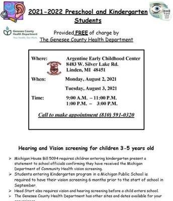 LCS Hearing and Vision Screening