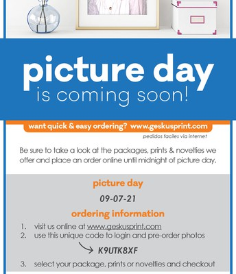 MHS Picture Day for Grade 1, September 7th