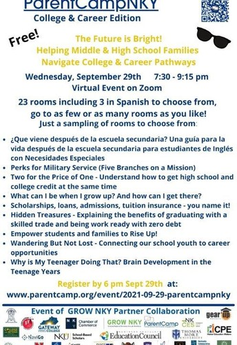 ParentCampNKY -- College and Career Edition