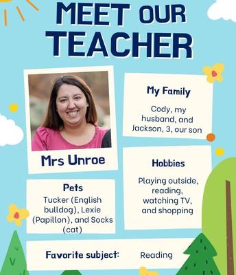 Mrs. Unroe, 5th Grade