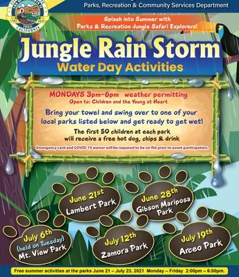 Jungle Rain Storm - Water Day Activities