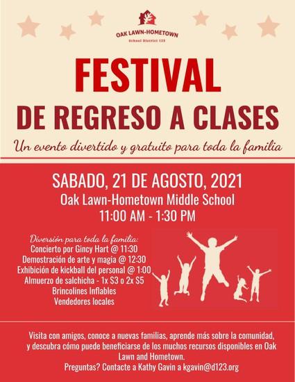 Back to School Extravaganza Flyer in Spanish