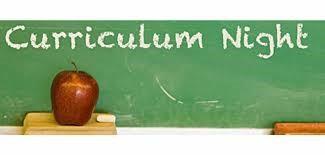 Sept 16 - Curriculum Night