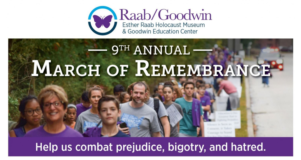 Join us on Sunday, October 3rd for the 9th Annual March of Remembrance. Location: Weinberg Commons   1721 Springdale Road, Cherry Hill (across from Bethel Baptist Church).
