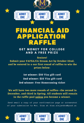 Financial Aid and College Application Raffle!