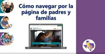 Cómo navegar por la página de padres y familias