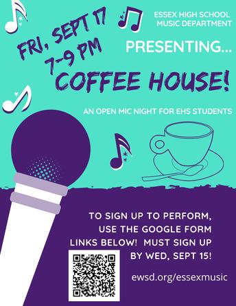 Coffee House; Sept 17